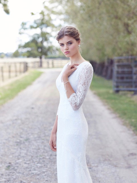 Broome lace vintage wedding dresses
