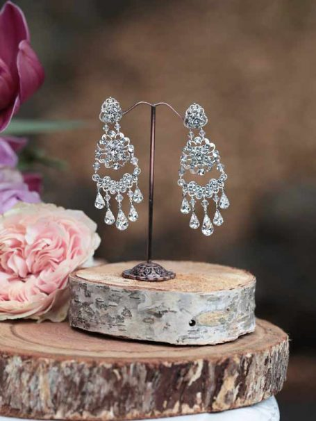 Bridal and wedding chandelier earrings