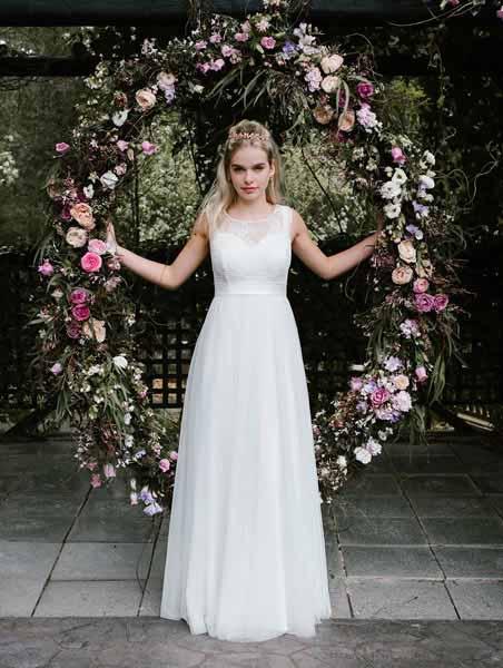 Bohemian Lee-Lee boho wedding gown