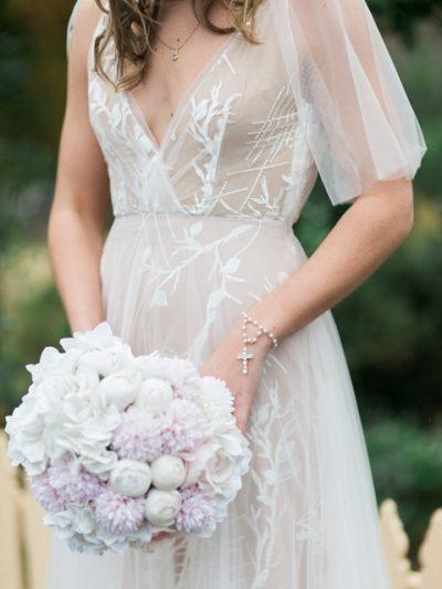 Marley bohemian wedding dress with sleeves