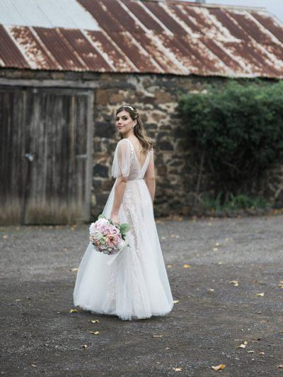 back of Marley wedding dress