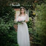 Garden bohemian wedding dress