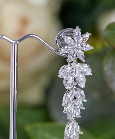 Close up of Romance Beautiful earrings