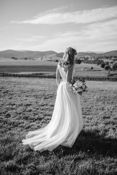 boho wedding dress train