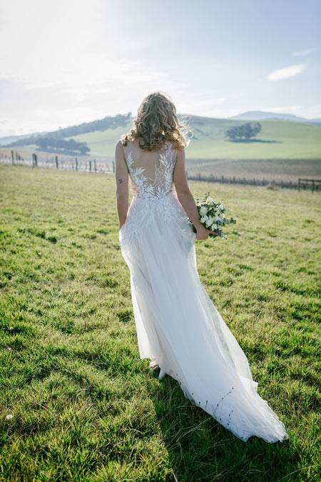 lace back bridal gown