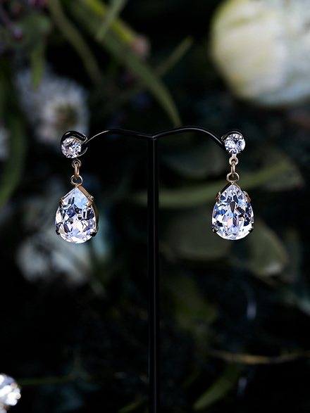 Bling wedding earrings