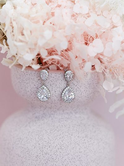 Classic bridal earrings