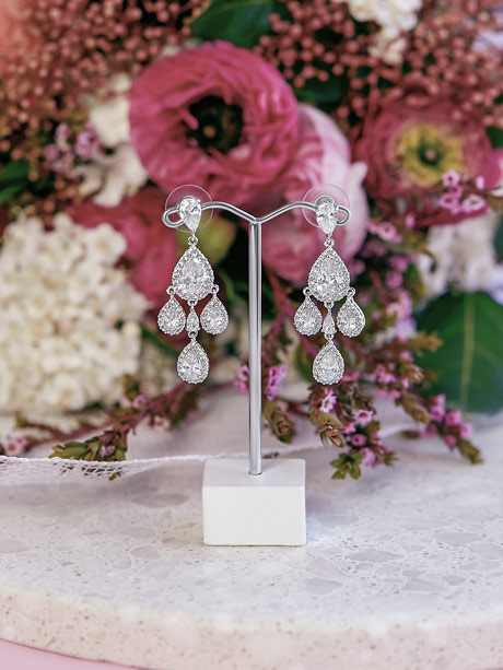 Teardrop Crystal Earrings Darling
