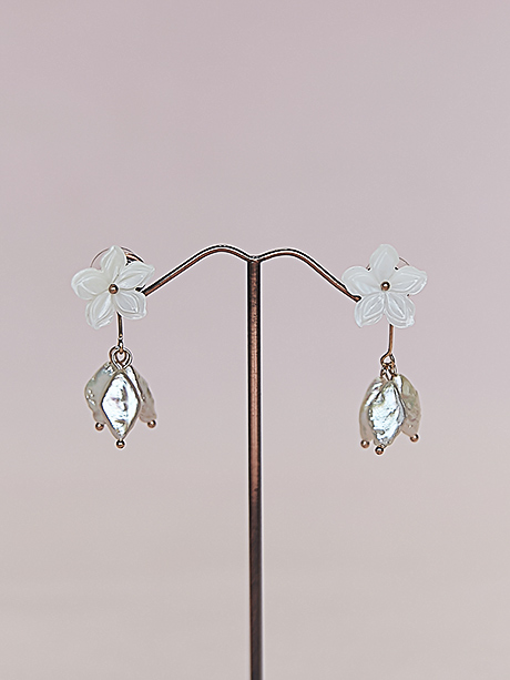 Pearl earrings wedding jewellery
