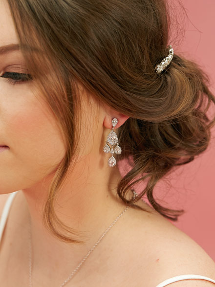 Darling chandelier Wedding Earrings