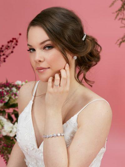 Sophia silver wedding dress bracelet