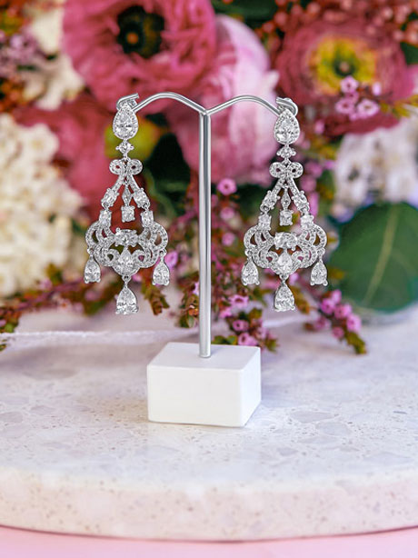 Silver vintage style earrings