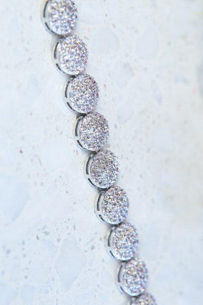 Brides silver evening bracelet