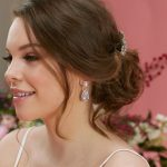 Royal Wedding Earrings on a bride