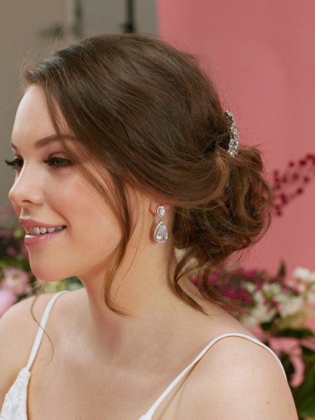Royal Wedding Earrings on a bride