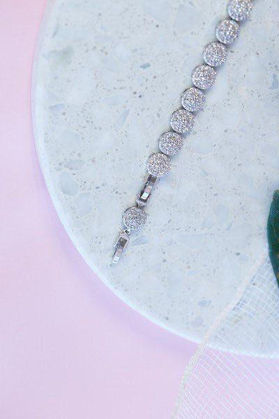Silver bracelet extender