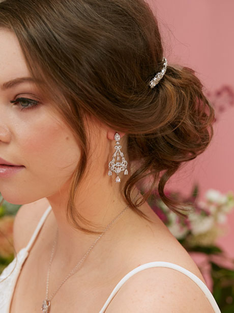 Wedding earrings vintage style