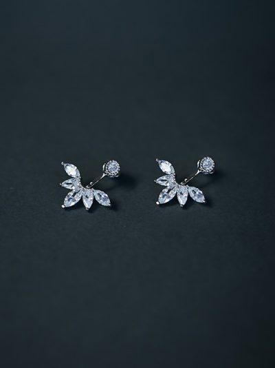 Wedding earrings jacket style
