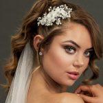 Flower bridal hair piece for wedding