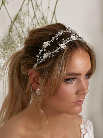 Double bridal hair piece