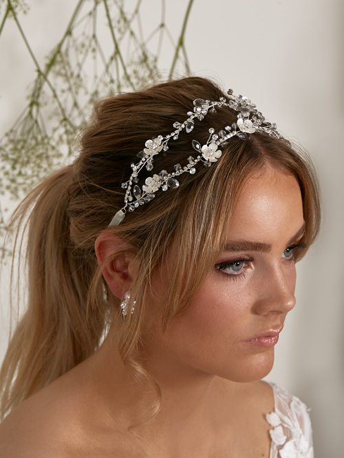 Double bridal hair piece