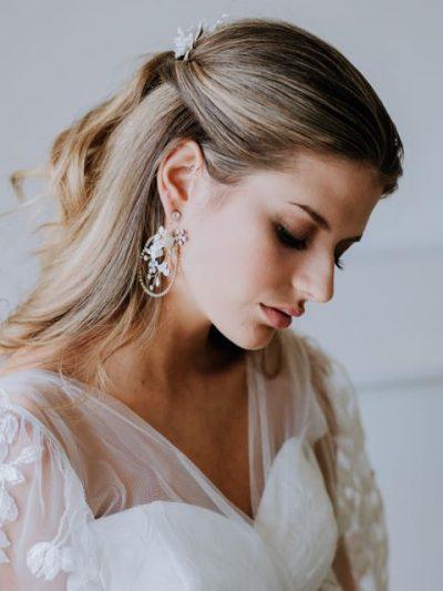Hello lovers wedding dress earrings
