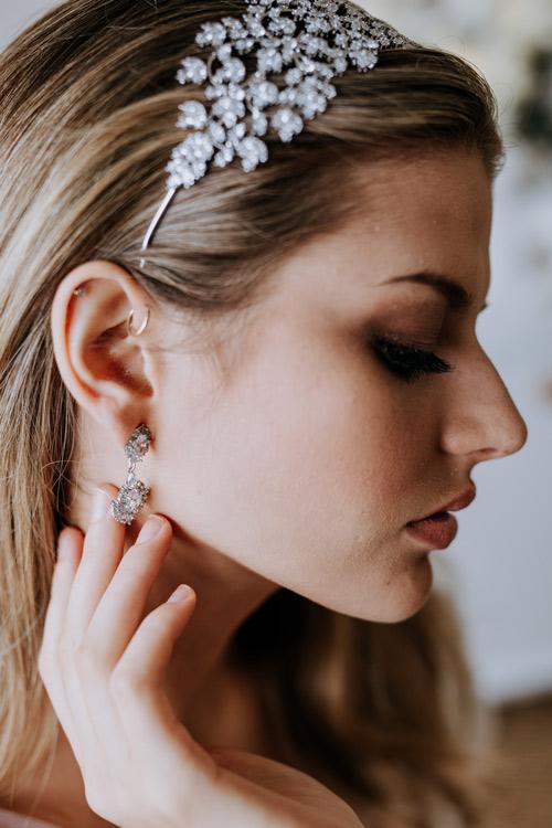Matching elegant earrings
