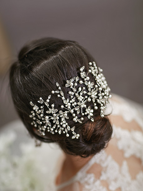 Large statement hair piece bridal jewellery
