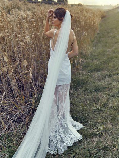 Wedding veils single layer