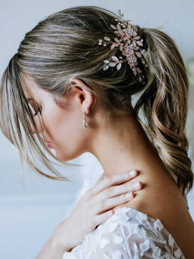 Big rose gold hair clips