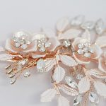Detailed rose gold hair clip