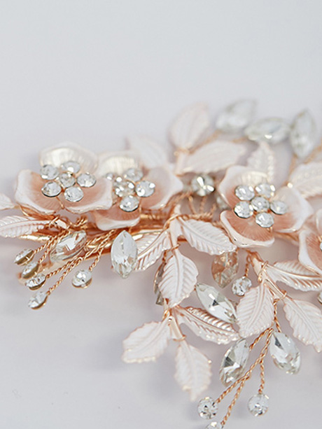 Detailed rose gold hair clip