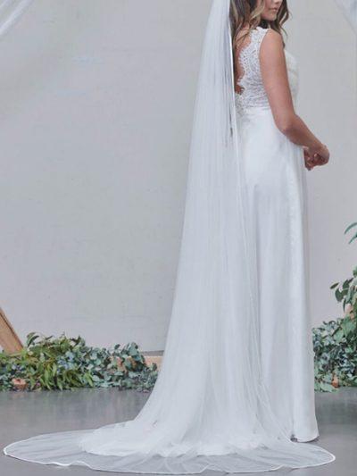 Chapel single layer long veil