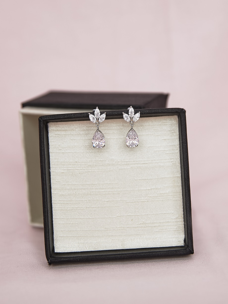 Sparkly earrings wedding jewellery
