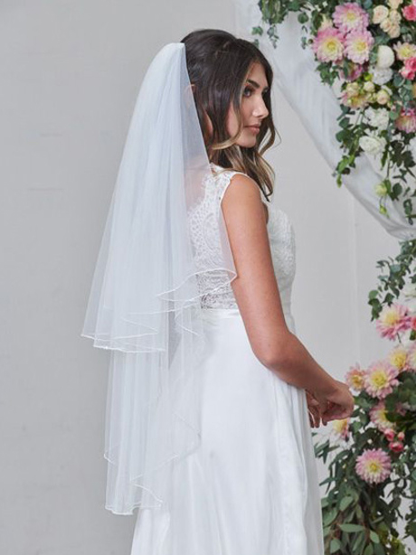sequin edge doule tier veil