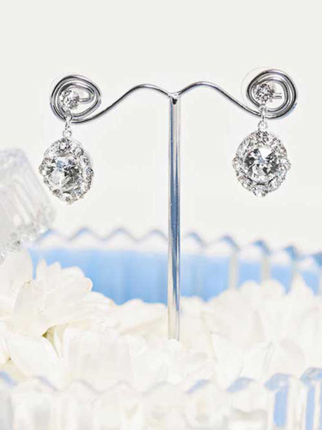Sparkling drop earrings ballroom style