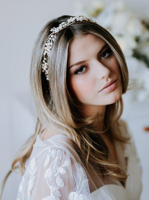 Classic style bridal hair vines