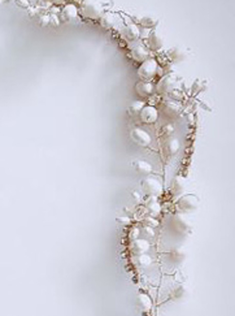 Detail of pearl headband