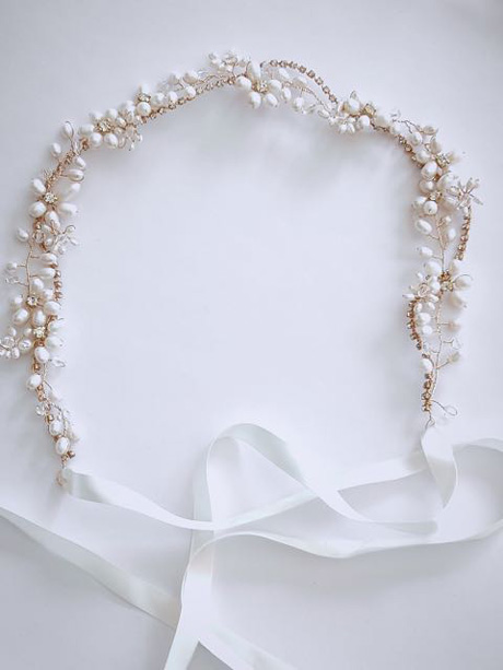 Pearl head band for brides