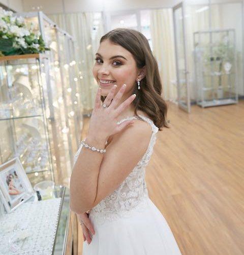 Wedding necklace shopping