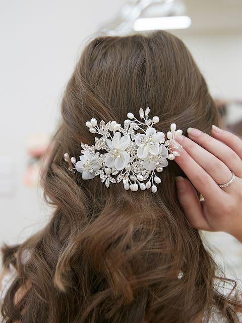 Bridal Hair piece with flowers
