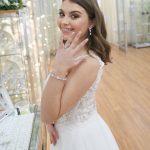 Pretty rose gold wedding bracelet