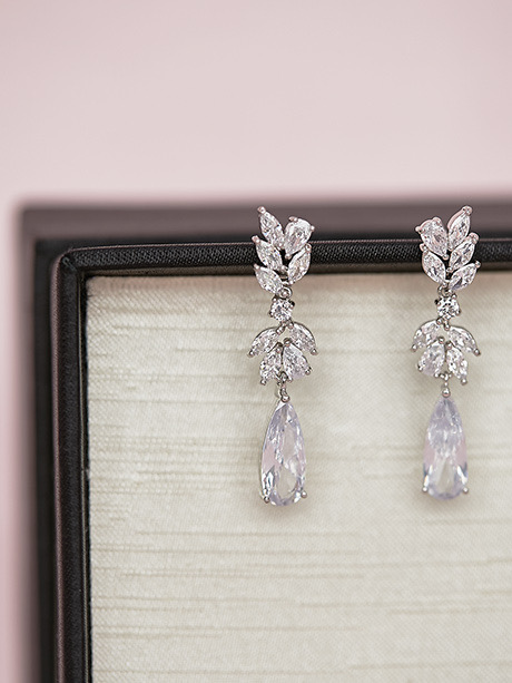 crystal intricate earrings