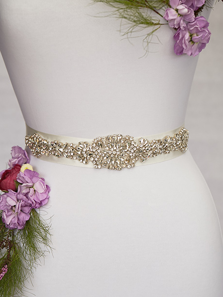 Sparkling bridal dress belt