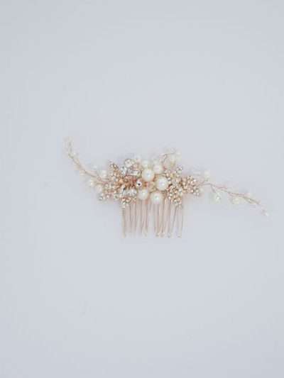 Rose gold hair decorations
