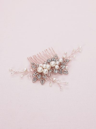 Pearl comb for curly hair