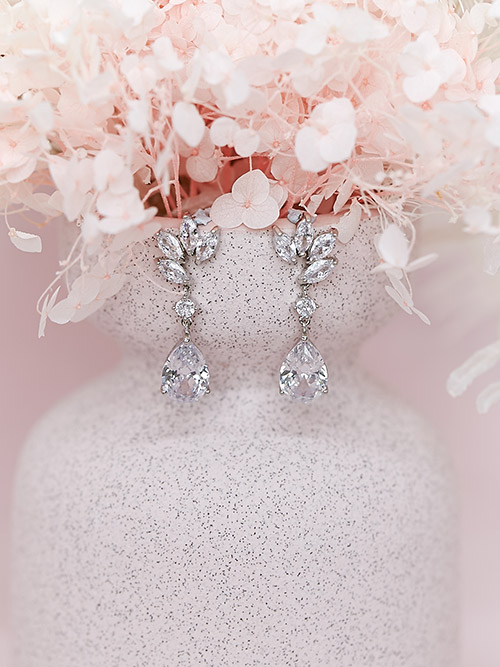 Wedding earrings Windsor jewellery set