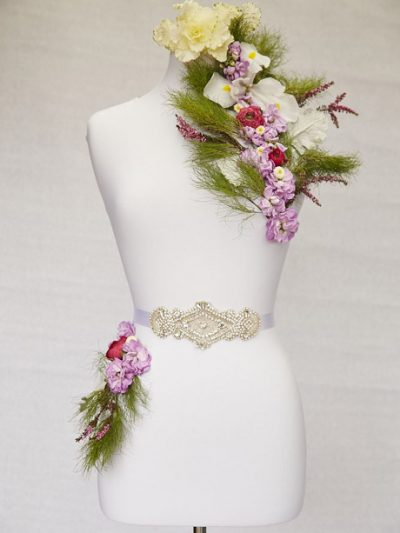 Pretty belts for brides