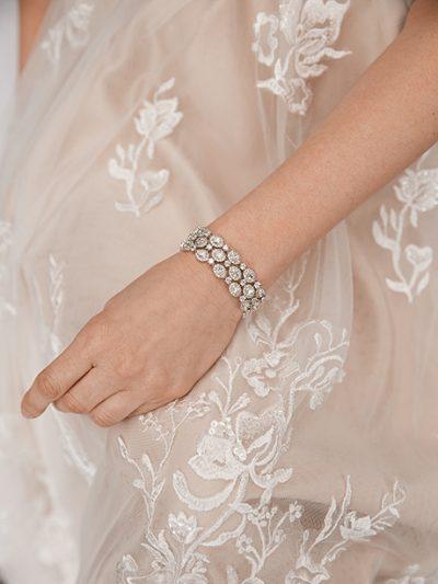 Bridal or Evening bracelet Large size