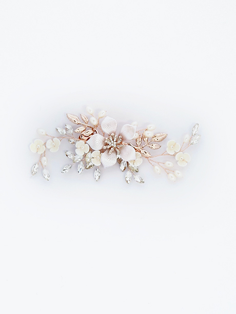 Rose gold hair piece with clip